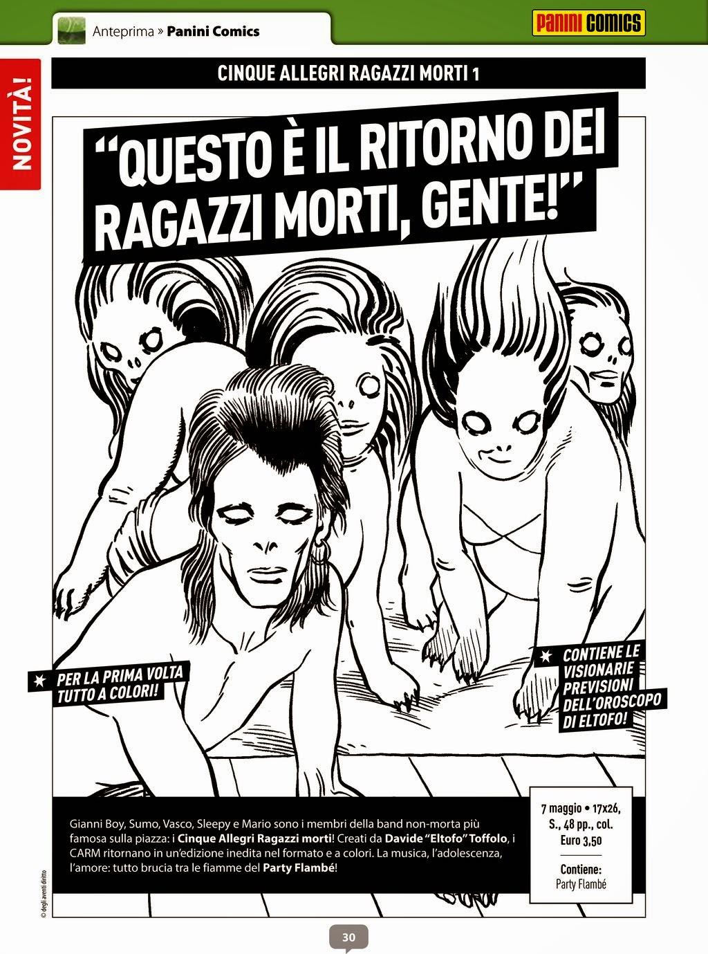 Cinque allegri ragazzi morti #1 (Anteprima #282 Febbraio 2015)