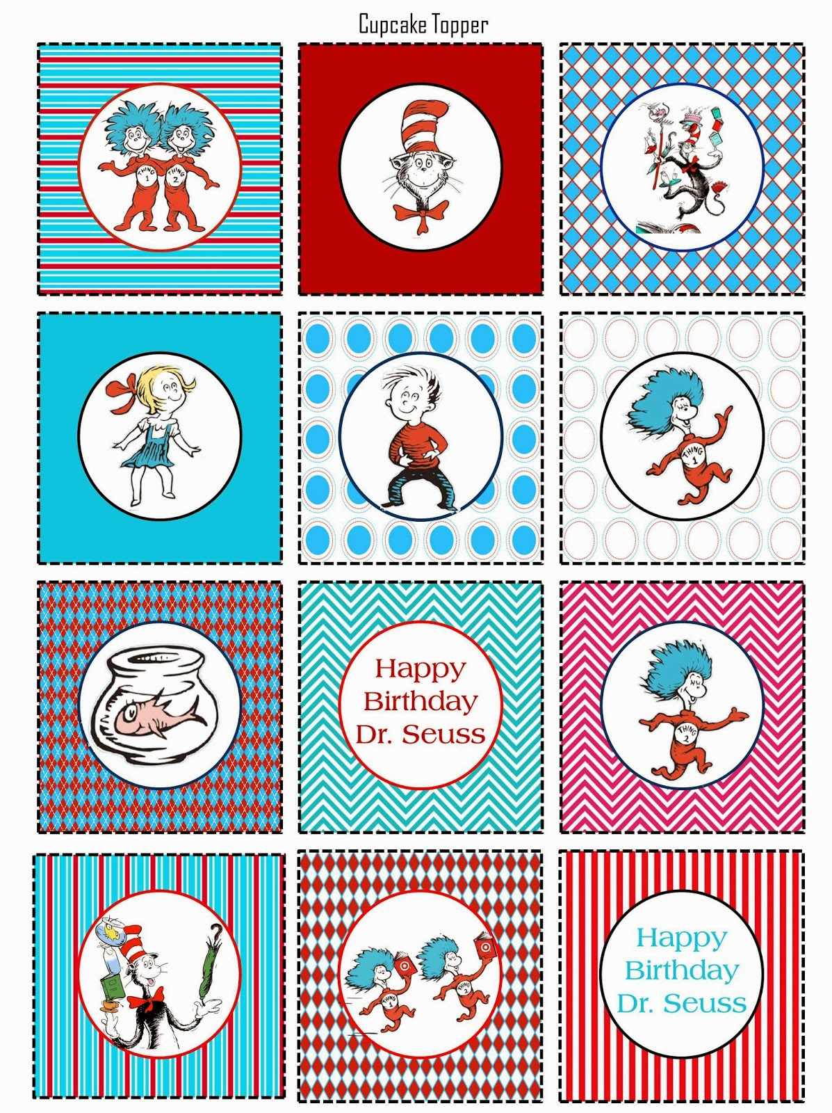 This is a picture of Effortless Dr Seuss Printable