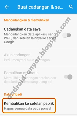 Trik Hard Factory Reset Android