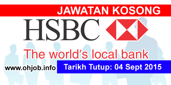 Jawatan Kerja Kosong HSBC Bank logo www.ohjob.info september 2015