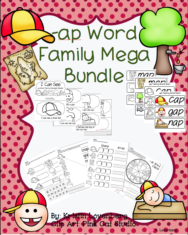 http://www.teacherspayteachers.com/Product/Word-Family-Bundle-with-Emergent-Reader-ap-1055291