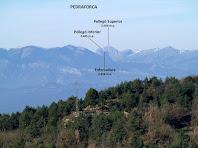 Vista del Pedraforca des del pla del Puig Cornador