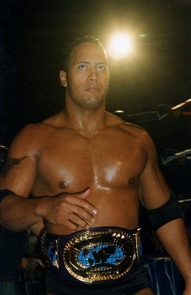 The Rock Dwayne Johnson wwe wrestler movie star