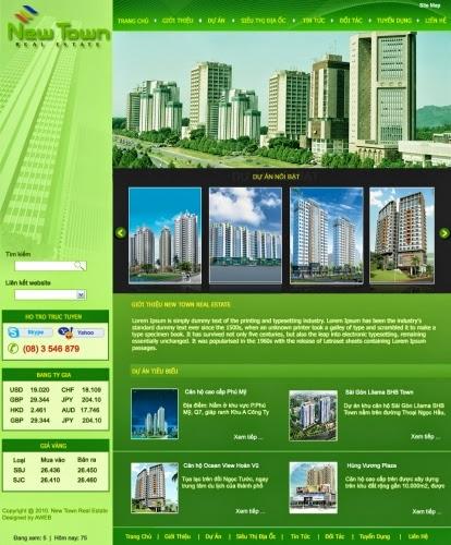 thiết kế website nhà đất đẹp