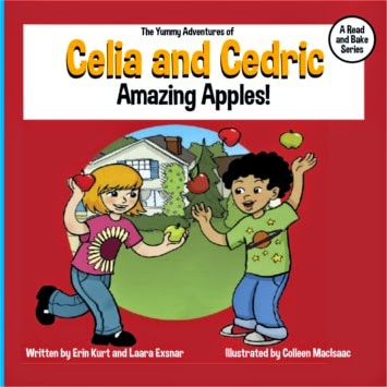 celia and cedric, good childrens books, snacks for kids, read & bake