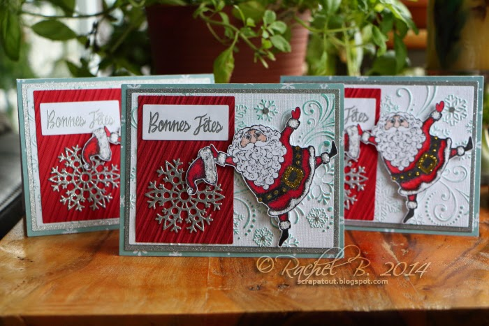 Impression Obsession Holiday card Santa Darice