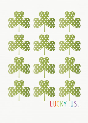 Lucky+Us+printable+5x7 *Dont* Kiss Me, Im only a *1/4* Irish (DIY St Patricks Day Mantel)