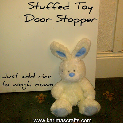 stuffed soft toy door stopper upcycle