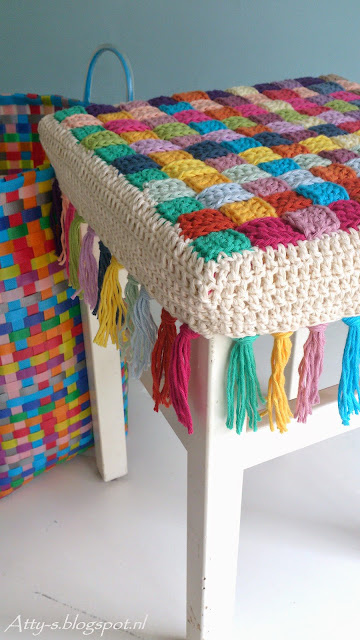 free crochet pattern stool cover