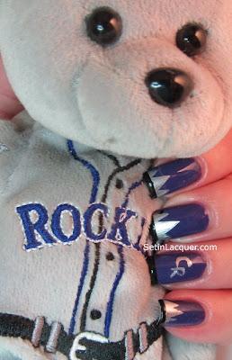 Colorado Rockies nail art