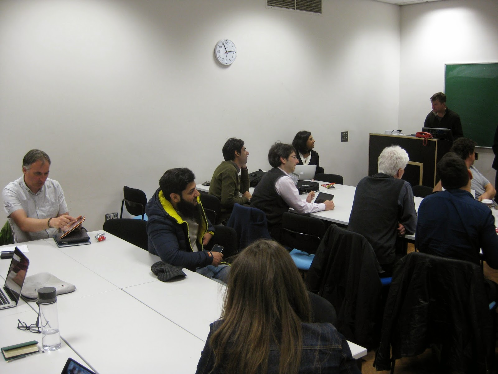 Photograph of University of Sheffield Learning Technologists meeting and discussing