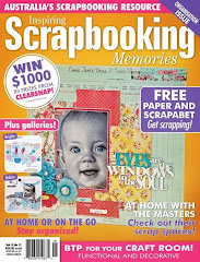 Delighted to be on the cover  of Scrapbooking Memories Vol 15 No 12