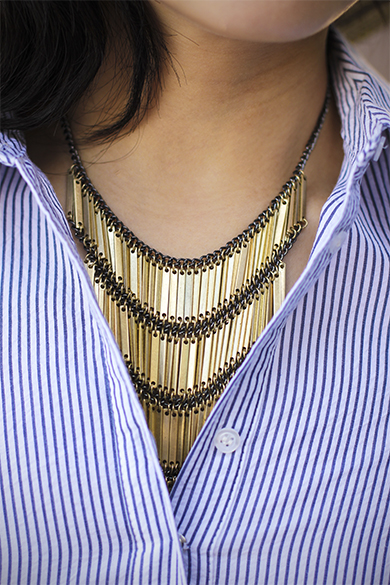 JewelMint ladder link necklace