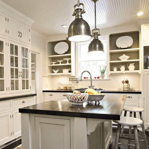 Charming The Black Countertops Are So Attractive To Me And Look So Sharp With White  Cabinets. Take A Looksy.