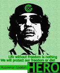 Muammar Khadafi HÉROE.