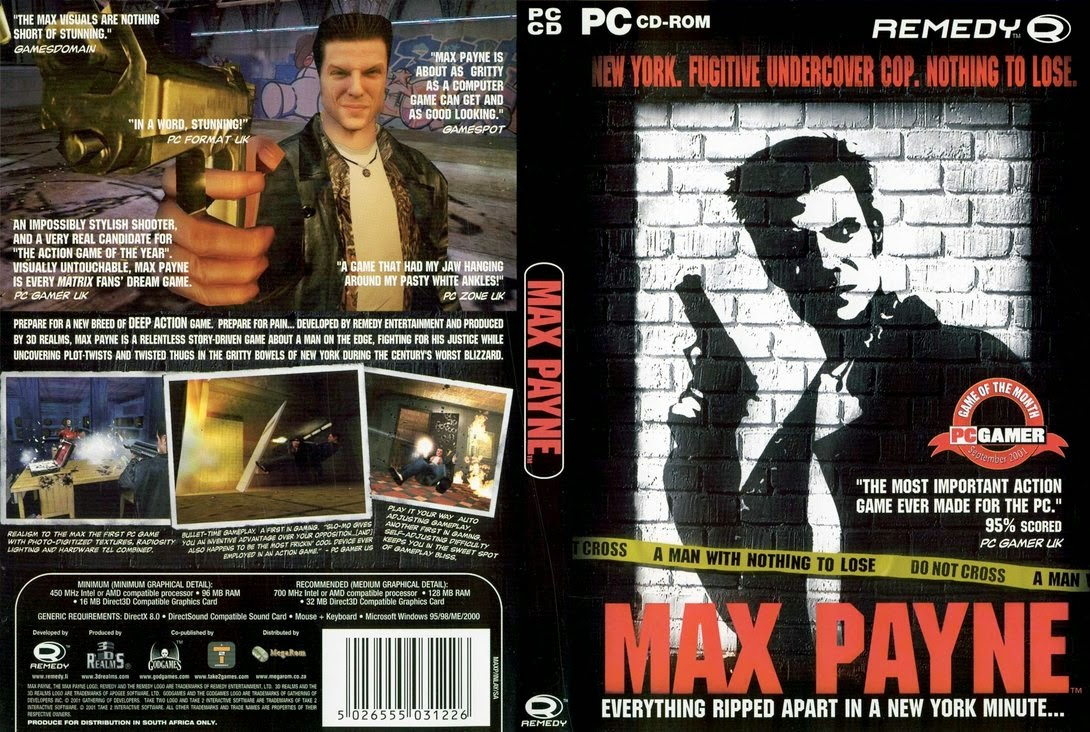 Max Payne 1 Cover