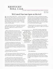 Kentucky Roll Call newsletter