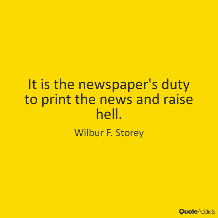 A newspaper's duty