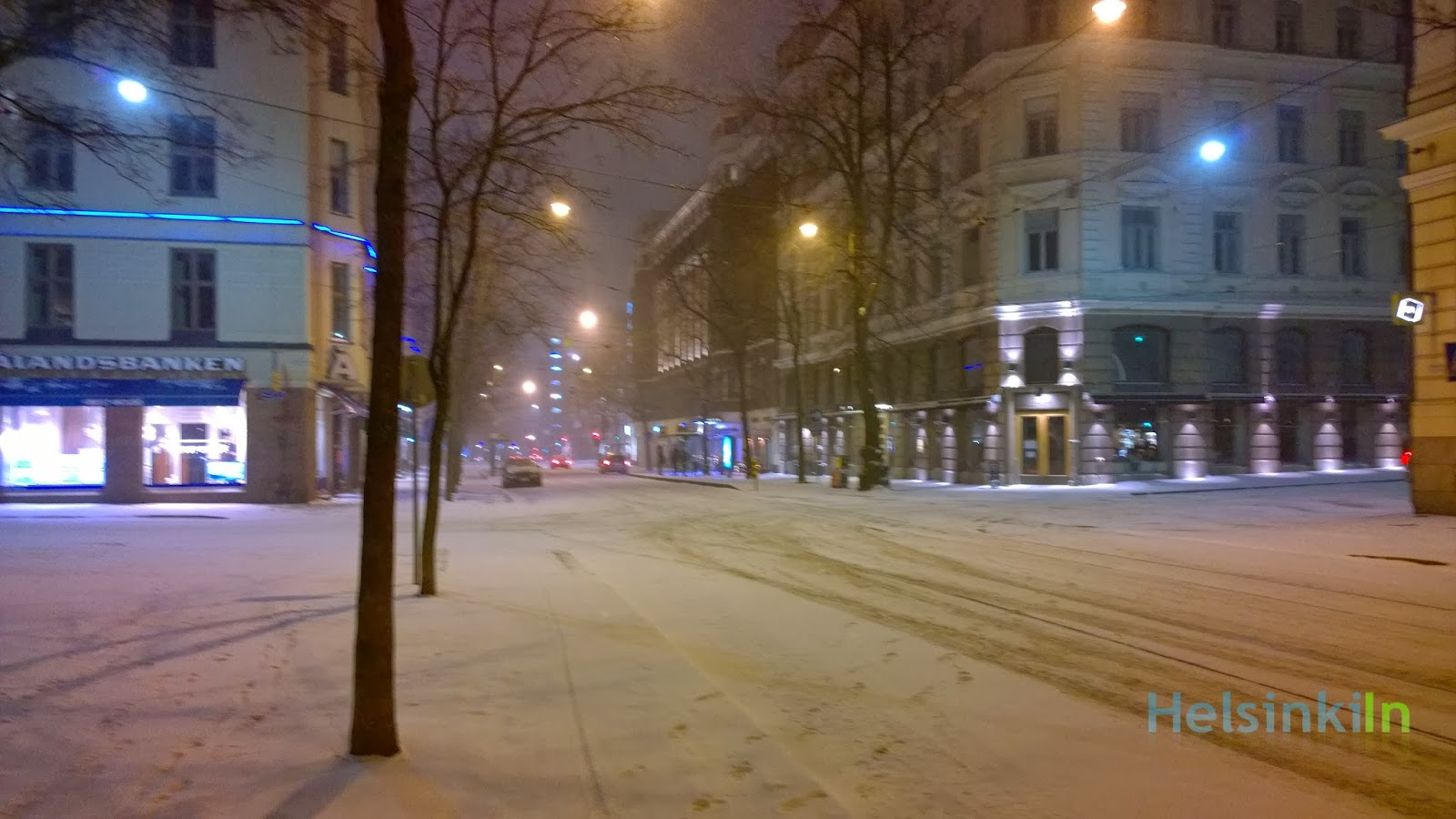snow during the night