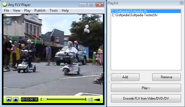 برنامج تشغيل اي ملف FLV Any FLV Player 2.5.1