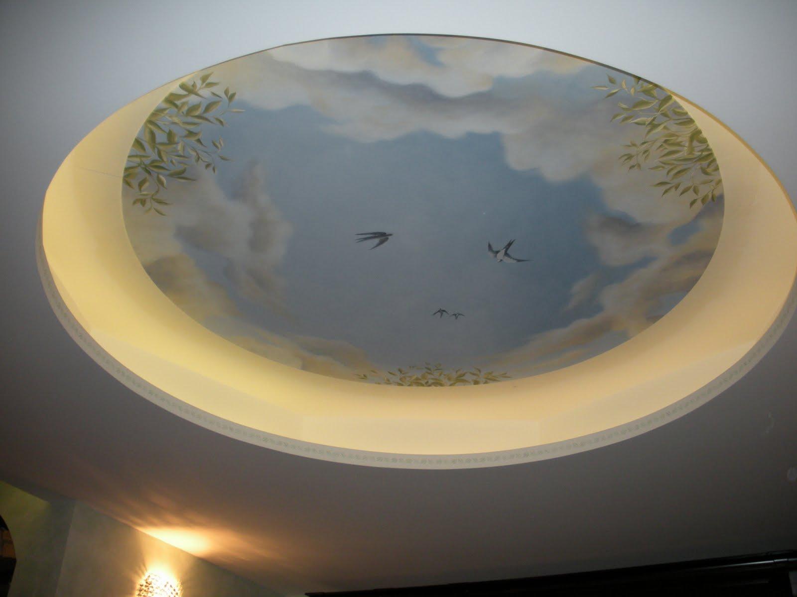 Bottega d'Arte Arcadia: SOFFITTO DECORATO TROMPE-L'OEIL