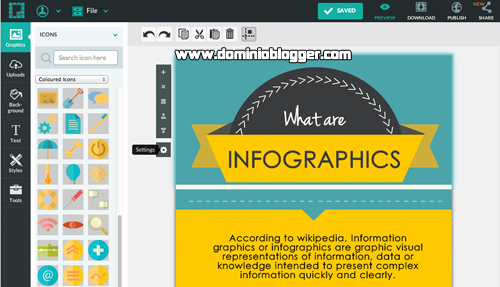 Crea infografías online y gratis con Piktochart