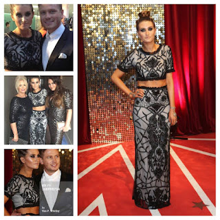 Beaded, Black, British Soap Awards, Champagne, Charley Webb, Crop Top, Embellished, Emmerdale, High Waisted, Light Grey, Maxi Skirt, Nude, Overlay, Sequins, Short Sleeve, Skirt, Tempest, Tulle, Debbie, Emmerdale