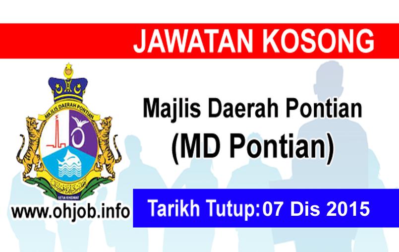 Jawatan Kerja Kosong Majlis Daerah Pontian (MDPontian) logo www.ohjob.info disember 2015