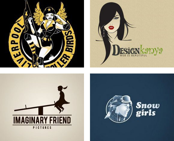 woman inspired logo designs