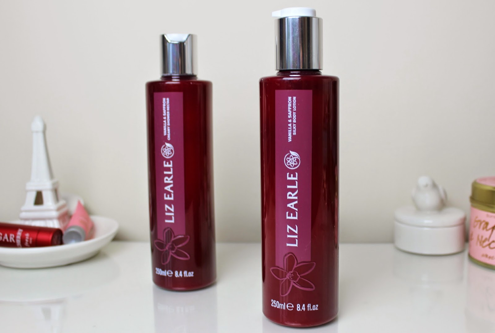 A picture of Liz Earle Vanilla & Saffron Shower Nectar & Silky Body Lotion