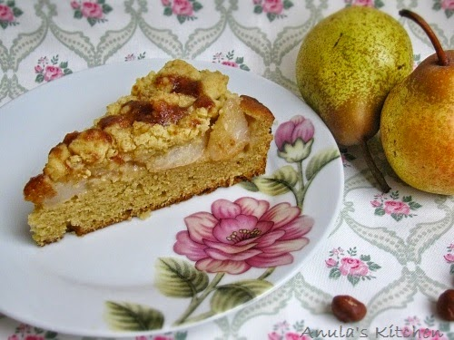 pear and hazelnut cake by nigel slater