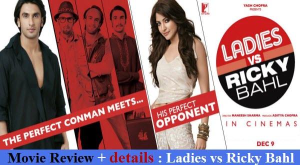 movie review ladies vs ricky bahl ranveer singh