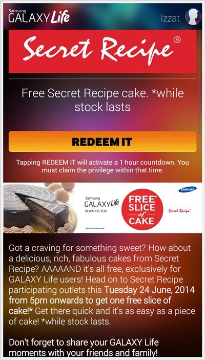 Kek Secret Recipe Percuma
