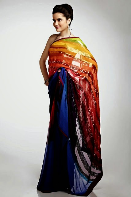 Fancy-Saree,Trend-2014,Female,Satya-Paul,Collection,2014