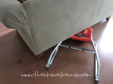 compact high chair storage