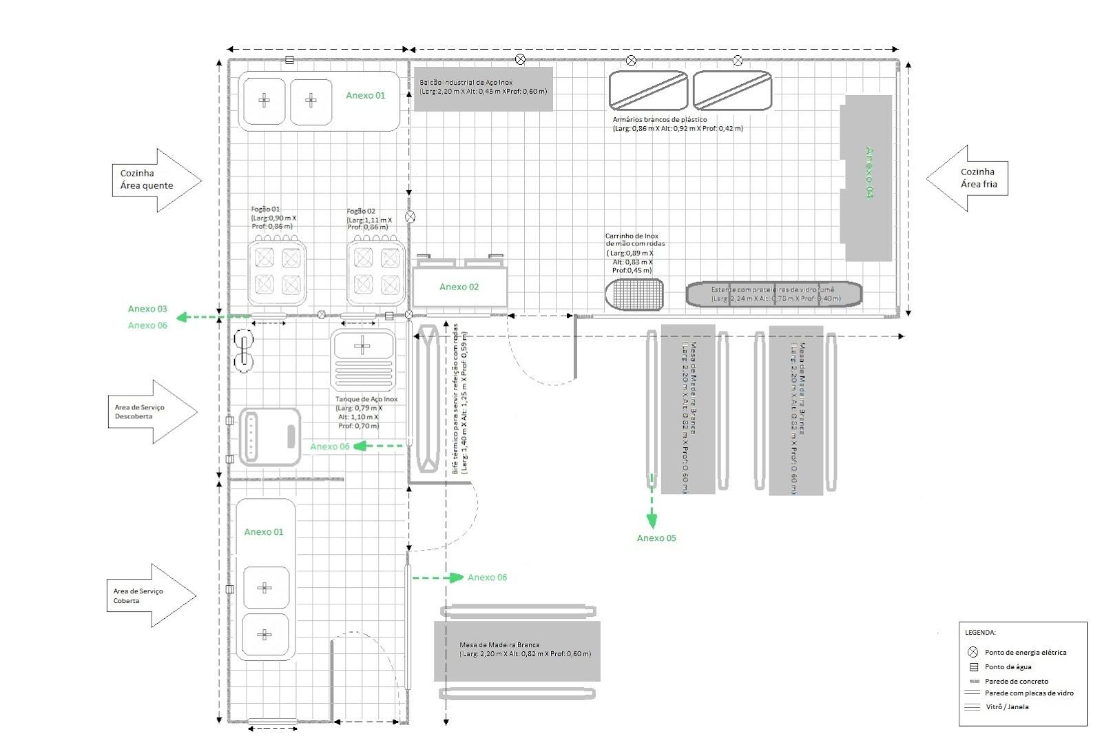 Projetos Manual de Boas Práticas e Projeto Arquitetônico da Cozinha  #28A34D 1600 1081