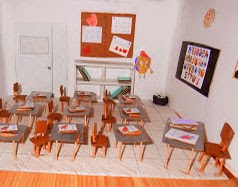 Maqueta de salon de clases