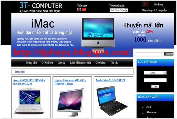 Source code Web Bán máy tính 3T Asp.Net + báo cáo