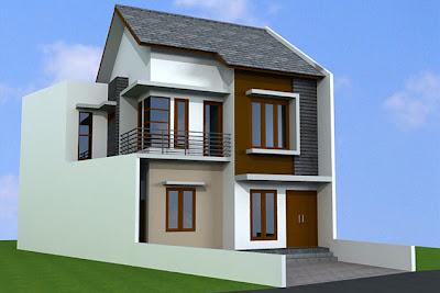 Desain Rumah Tingkat Minimalis Type 36