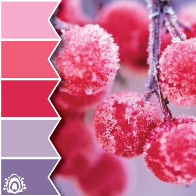FROSTY BERRIES COLOR PALETTE pastel feather studio