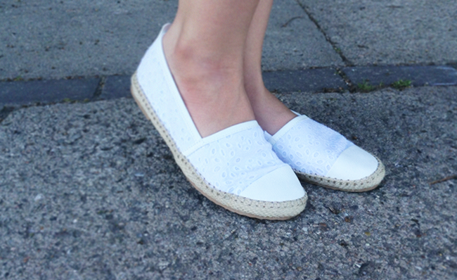 NEXT white crochet espadrilles