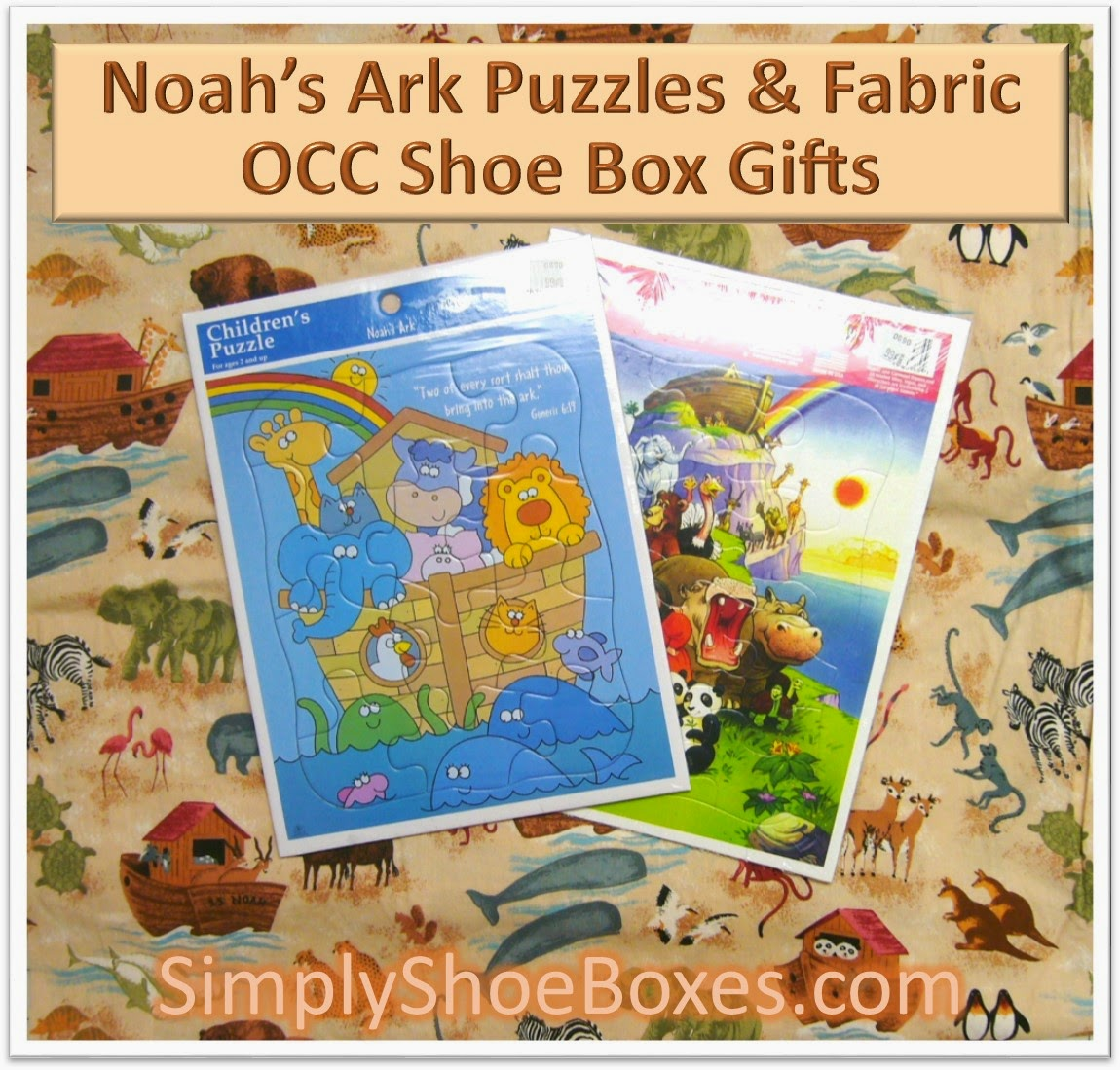 Noah's Ark puzzles and fabric