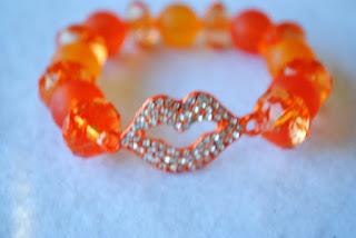 Rhinestone Lips Bracelet