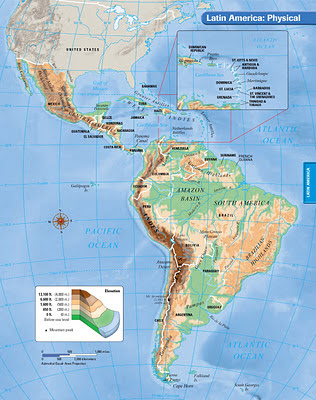 Physiographic Map of Latin America Directions   Mr. Boushey's