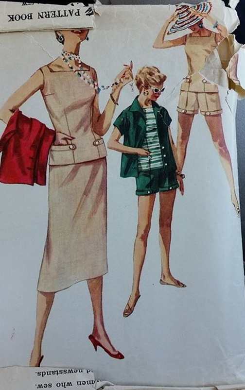 vintage shorts sewing pattern