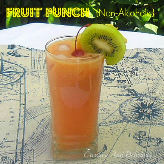 Refreshing Fruit Punch {Non-Alcoholic} ~ Thirst buster for all ages to enjoy with a delicious tropical taste ! #FruitPunch #Drinks #NonAlcoholic