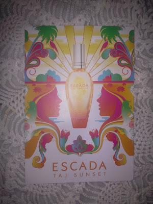 He recibido la muestra gratuita del perfume de Escada