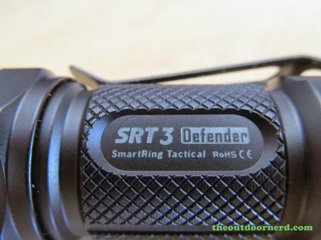 Nitecore SRT3 Defender EDC Flashlight: Closeup Of Markings