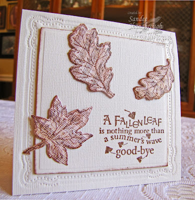 Our Daily Bread Designs, Sandee Shanaborough, Autumn Blessings, ODBD Custom Leaves and Acorn Dies