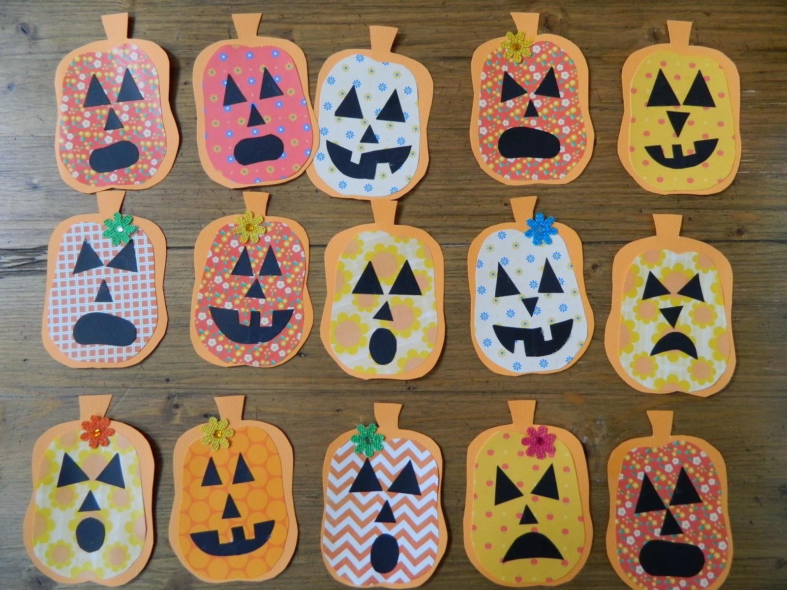 the vintage umbrella: preschool Halloween projects
